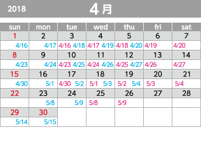 2018年4月