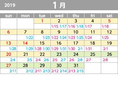2019年1月